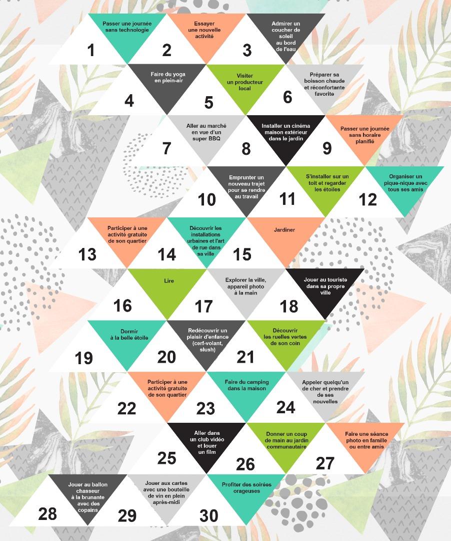 la liste de fin d 39 t 30 choses faire avant que l 39 t ne s 39 teigne les inspir s. Black Bedroom Furniture Sets. Home Design Ideas